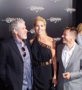Alexandra Klim, Fredrik Malmberg und Ron Perlman - Gruppenfoto: 2 Produzenten und ein Schauspieler