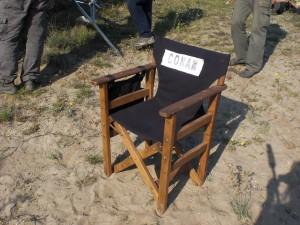 Director's Chair Conan Behind the Scenes Dreharbeiten in Bulgarien
