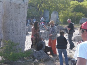 Conan-Dreh in Bulgarien, Steinwald Pobitite Mamani mit Marcus Nispel und Jason Momoa