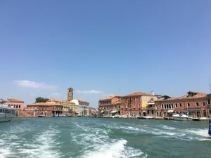 Ankunft in Venedig mit dem Boot
