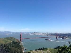 Golden Gate Bridge in der Sonne