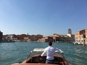 Mit dem Wassertaxi durch Venedig