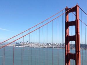 Detail der Golden Gate Bridge in San Francisco