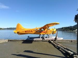 Wasserflugzeug in Marin County, kurz vor einem Rundflug über die Bay Area