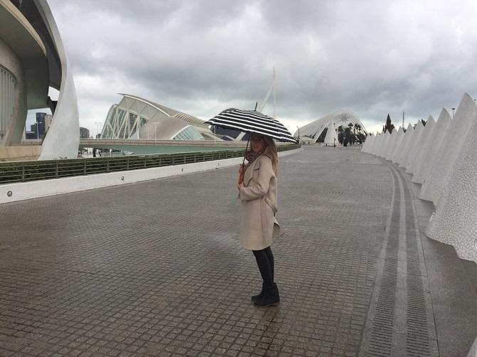 Alexandra Klim in der Ciudad, Valencia