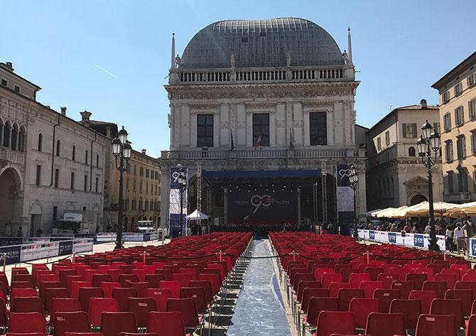 Piazza della Loggia in Brescia