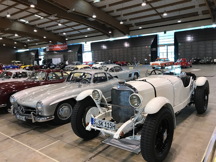 Mercedes 300 SL und Mercedes SSK auf der 1000 Miglia