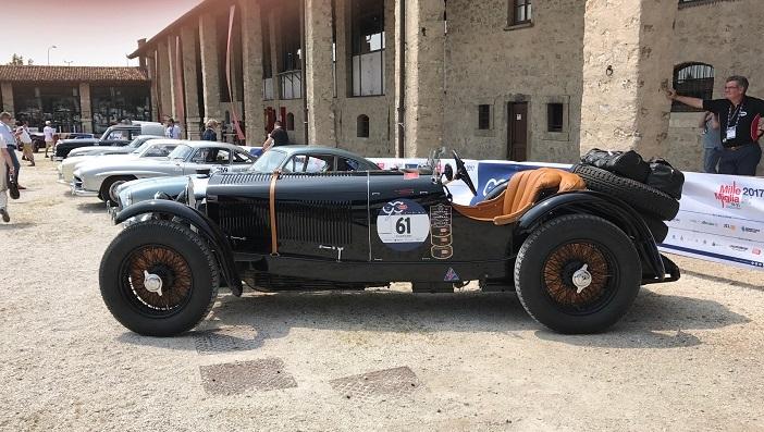 Mercedes-Benz 710 SSK (1929) vor dem Start bei der 1000 Miglia