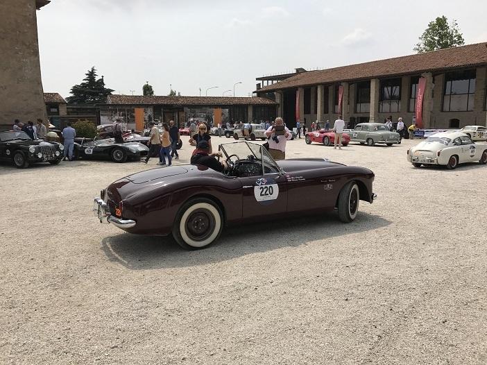 Nash Healey Sports 3850 cc von 1950 auf der 1000 Miglia