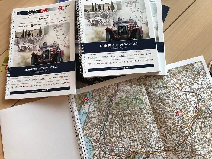 1000 Miglia 2017, Roadmaps and Naviigation books