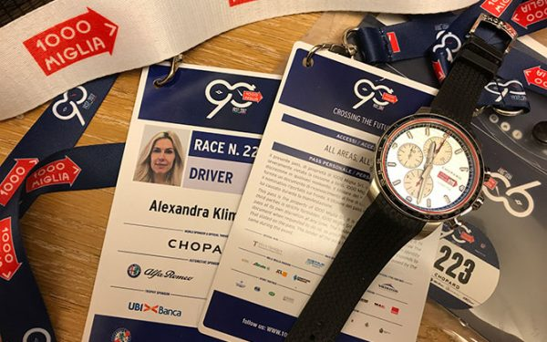 Teilnehmer-Badge der 1000 Miglia 2017