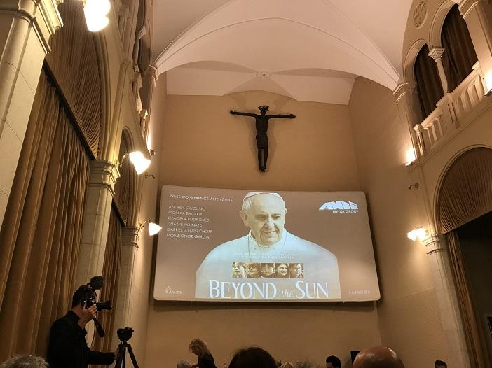 Vatikanisches Kino vor der Filmpremiere des Papst-Films mit Franziskus